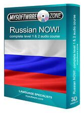 LEARN + SPEAK RUSSIAN NOW! COMPLETE LEVEL 1 2 AUDIO LANGUAGE COURSE MP3 CD GIFT
