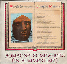 SIMPLE MINDS Someone Somewhere / King Is White And In The Crowd 45