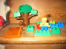 DUPLO LEGO MAN SIT PLAYFIGURE TREE FOREST JUNGLE WOOD  ASSORT CONSTRUCTION BRICK