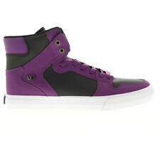 Supra Men's Vaider Hi Top Sneaker Shoes Plum-White/Gum Footwear Athletic Skat...
