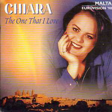 CD SINGLE Eurovision 1998 Malte : CHIARA	The one that I love 2-track CARD SLEEVE