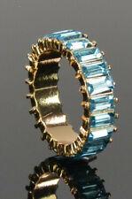 ASOS goldfarbener Ring Kristallen Baguette Schliff Bandring Gr. M/53; K66 482