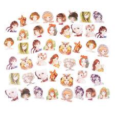 45x/box Kawaii Girl Paper Stickers Diary Decor Diy Scrapbooking Christmas GiftSK