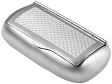 ENGINE TURNED PATTERN PILLBOX 925 STERLING SILVER HALLMARKED FROM ARI D NORMAN