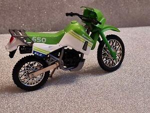 Motormax 1:18 Kawasaki KLR 650 Motorcycle Motorbike
