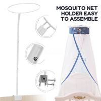 Baby Bed Mosquito Net Holder Accessories Cot Netting Canopy Drape Stand Crib Set