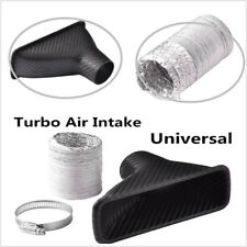 Universal Car Turbo Air Intake Turbine Inlet Pipe Air Funnel Carbon Fiber ABS