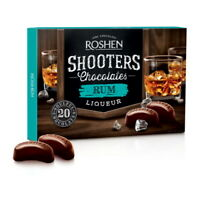 """Box Sweets ROSHEN """"Shooters"""" Chocolate Candy with Rum Liqueur 150g / 5.3oz"""