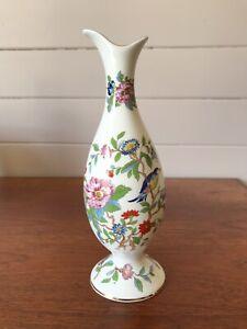 """Vintage Aynsley Porcelain """"Pembroke"""" Vase Made In England Sticker Attached"""