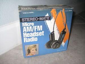 Vintage Radio Shack Realistic Stereo-Mate headset Radio Tandy 12-145 NEW NIB