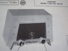CAPEHART T-522 RADIO PHOTOFACT