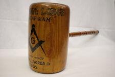 "Folk Art WI 1935 Masonic Kenmore Lodge Mallet Frank J. Vorda Jr. 31 1/2"""