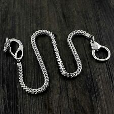 Sliver Stainless Steel Wallet chain Jeans Pants Keychain with Dragon Clasp