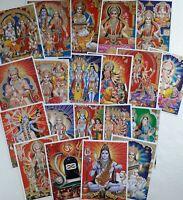 "20 Hindu Posters - Durga Kali Rama Hanumana Shiva Ganesha Lakshmi Krishna 8x12"""