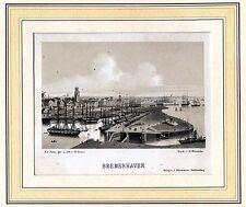 BREMERHAVEN - schöne Gesamtansicht - Lithographie von Heuer 1865 Original!