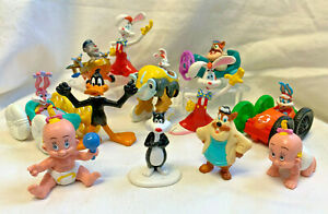 1980s-90s PVC Toy Lot Roger Rabbit Looney Tunes etc Cake Toppers Party Figures