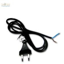 EURO- corde 1, 5 m Noir Prise Euro FICHE