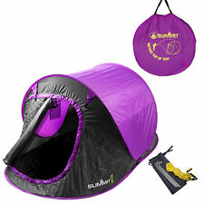 Summit Hydrahalt 2 Person Pop Up Tent Camping and Outdoor Sleeping Gear - Purple