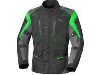 iXS Textiljacke Tarel | Schwarz-Grün-Grau | Motorradjacke aus Polyester