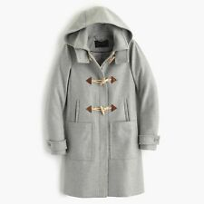 J. Crew Women's Wool Blend Melton Toggle Coat Jacket Gray Sz 10 NWT (orig $365)
