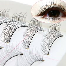 10Pair/Pack Makeup Handmade Natural Cross Long False Eyelashes Eye Lashes Sparse