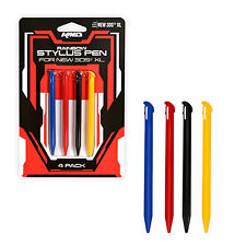 Nintendo 3DS-XL 4 Stylus Pens Pack KMD New BLACK RED BLUE (Pen Styluses Set)