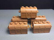 LEGO Treasure Chest Container NEW Authentic Minifig Accessory Pirates (X5)