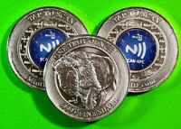 1 oz .999 Fine Silver Buffalo Round With Encrypted Scan Technology * MintID *