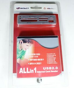 Genuine Intact All in 1 Internal Card Reader with USB 2.0 (8 Pin USB Connector)