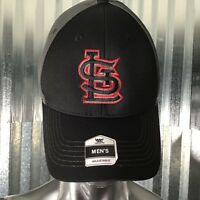 Fan Favorite Mens LST Black Gray Red Trim Baseball Cap One Size Fit Most NEW