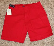 $75 Brand New Polo Golf Shorts Men's 36 Red 100% Pima Cotton Flat Front Large L
