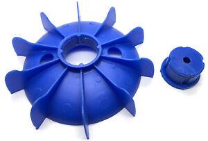 Electric Motor Plastic Cooling Fan Impellor 122mm Diameter Impeller 71 Frame