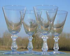 Val Saint Lambert - Lot de 4 verres à vin rouge en cristal, modèle Crown