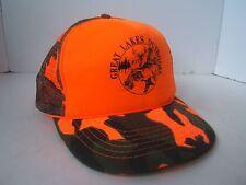 Great Lakes Outdoors Hat Hunters Orange Camo Snapback Trucker Cap