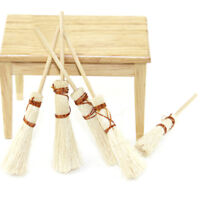 1/12 Dollhouse furniture miniature wood broom dolls house kitchen yard access 3C