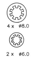 Rear Brake Shoe Set Fits Renault OE 7701204835 Ferodo FSB544