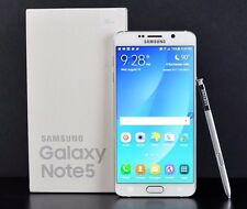 New In Box Samsung Galaxy Note 5 SM-N920V 32GB White Pearl Verizon Smartphone