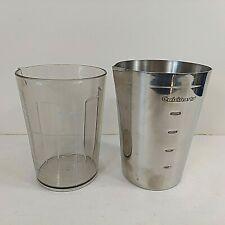 Cuisinart Blender Measuring Cup Set (2) Drink Maker Pour Spout Replacements