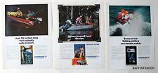 3 x Evinrude Outboard  Magazine 1973  Print Ads  8 x 11