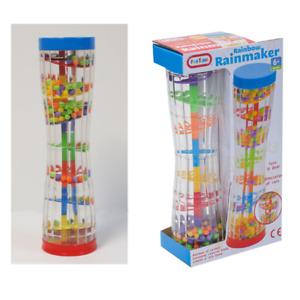 Fun Time Rainbow Rainmaker Toy Sensory Auditory Baby Toddler Shake 6mths+ NEW
