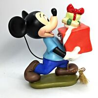 Disney WDCC Mickey Mouse Vintage Christmas Gift Presents Porcelain Ornament