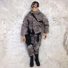 Vtg GI JOE Doll 1996 Sniper Ranger Parachute Parachuter Army Figurine Camo