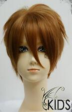 TSUBASA Li Syaoran cosplay wig costume brown colour short