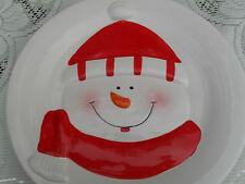 DOLCE NATALE PUPAZZO DI NEVE 8 in (ca. 20.32 cm) Plate-lasciare alcuni tritare torte per Babbo Natale!