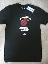 Miami Heat Adidas Adult Basic Logo Go To Tee Shirt MEDIUM