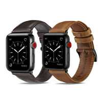 Genuine 38/40/42/44mm Apple Watch Band Leather Strap For iWatch Series 4 3 2 1