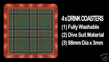 4  x  SCOTTISH TARTAN - CLAN - IRISH NATIONAL - DRINK COASTERS - Re-usable