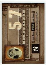 Roger Maris 2005 Biography HR 1961 Season Materials #57 Roger Maris Bat Card