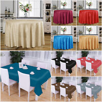 Modern Table Cloth Damask Party Tableware Rectangle Round & Floral Table Napkin