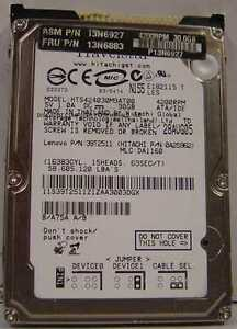 """30GB HTS424030M9AT00 2.5"""" 9.5mm IDE 44PIN Drive Hitachi Tested Our Drives Work"""